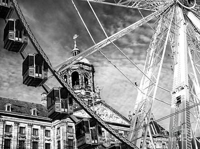 Photograph - Ferris Wheel View In Dam Square by John Rizzuto