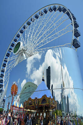 Ferris Wheel Wonder Art Print by Andrea Simon