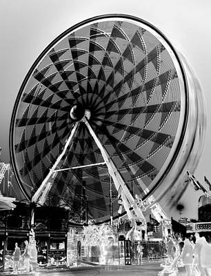 Photograph - Ferris Wheel X - Ray Style by David Lee Thompson