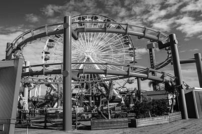 Photograph - Ferriswheel In Black And White by Robert Hebert