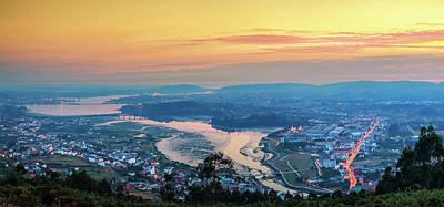 Photograph - Ferrol's Ria Panorama From Mount Ancos Galicia Spain by Pablo Avanzini
