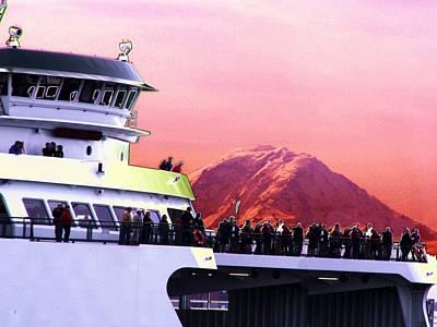 Ferry And Da Mountain Print by Tim Allen