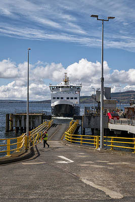 Photograph - Ferry Boat At Wemyss Bay by Jeremy Lavender Photography