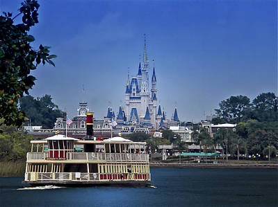 Magician Photograph - Ferry Boat Magic Kingdom Walt Disney World Mp by Thomas Woolworth