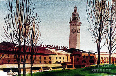 Ferry Painting - Ferry Building San Francisco by Donald Maier
