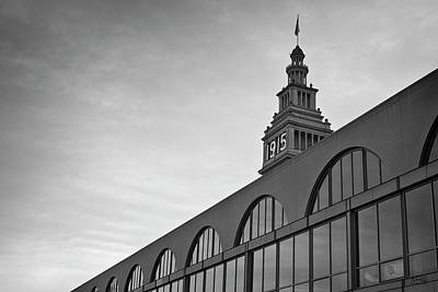 Ferry Building San Francisco I Bw Art Print by David Gordon