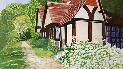 Ferry Cottage Art Print