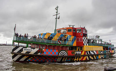 Ferry Cross The Mersey - Razzle Boat Snowdrop Art Print