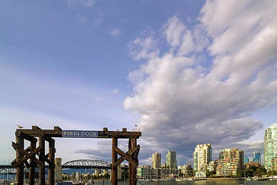 Photograph - Ferry Dock At Granville Island In British Columbia by David Gn