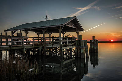 Photograph - Ferry Dock Dewees Island by Donnie Whitaker