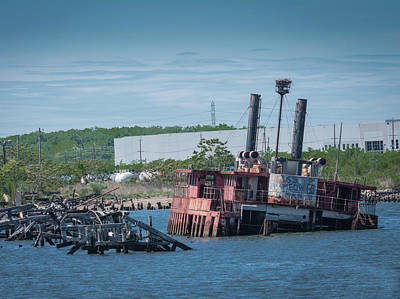 Photograph - Ferry Graveyard by Kenneth Cole