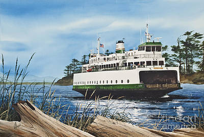 San Juan Painting - Ferry Illahee by James Williamson
