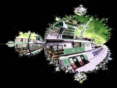 Digital Art - Ferry In Fractal by Tim Allen