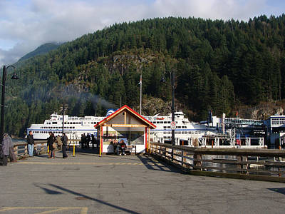 Ferry Landed At Horseshoe Bay Art Print by Rod Jellison