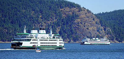 Photograph - Ferry Meets Ferry by Rick Lawler