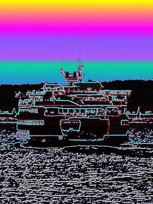 Photograph - Ferry On Elliott Bay 4 by Tim Allen