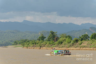 Photograph - Ferry On The Chindwin 2 by Werner Padarin