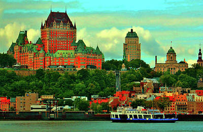 Quebec Mixed Media - Ferry Ride Summer Day by William Rockwell