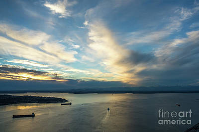 Photograph - Ferry To The Sunset by Mike Reid