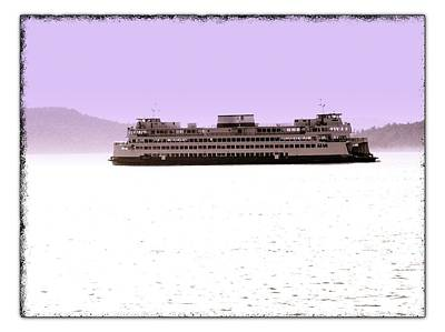 Photograph - Ferry With Pink Mountains by Craig Perry-Ollila