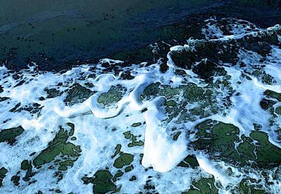 Digital Art - Ferry's Wake by Gina Harrison