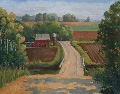 Corn Crib Painting - Fertile Farm by Sandra Quintus