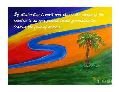 Painting - Fertile Foundation - Spiritual Art Poster by Pat Heydlauff
