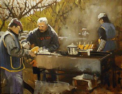 Figurative Painting - Festival Corn by David Simons