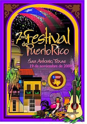 Festival De Puerto Rico Art Print by William R Clegg