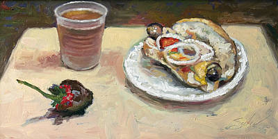 Painting - Festival Food by Larry Seiler