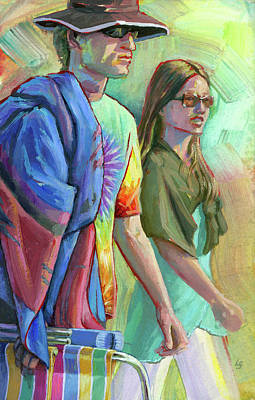 Painting - Festival Goers by Lesley Spanos