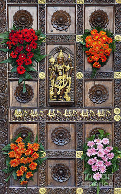 India Babas Photograph - Festival Gopuram Gate by Tim Gainey