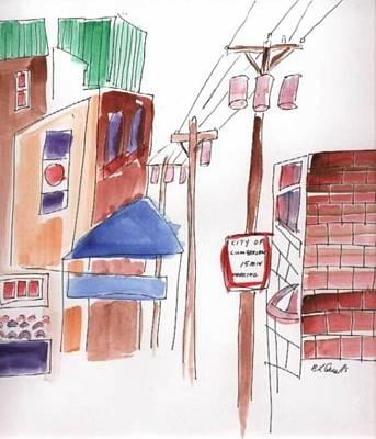 Festival In The City 8 Art Print by B L Qualls