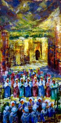 Painting - Festival In The Village . by Laila Awad Jamaleldin