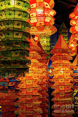 Photograph - Festival Lanterns by Gary Holmes