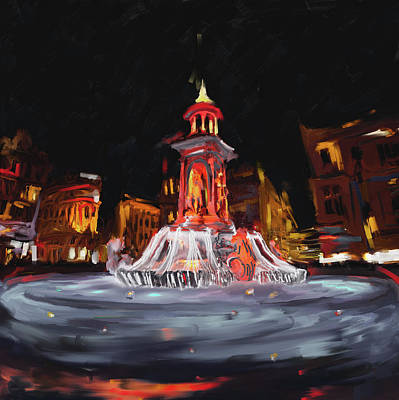 Notre Dame Street Painting - Festival Of Lights , Lyon 2 259 2 by Mawra Tahreem