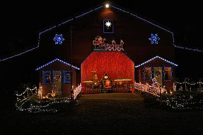 Photograph - Festival Of Lights Barn by Kathryn Meyer