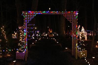 Photograph - Festival Of Lights Gateway by Kathryn Meyer