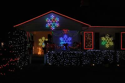 Photograph - Festival Of Lights House by Kathryn Meyer