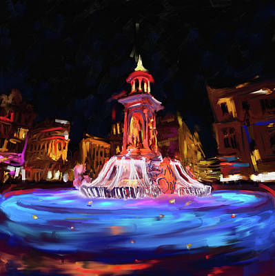 Light Show Painting - Festival Of Lights, Lyon 2 259 1 by Mawra Tahreem