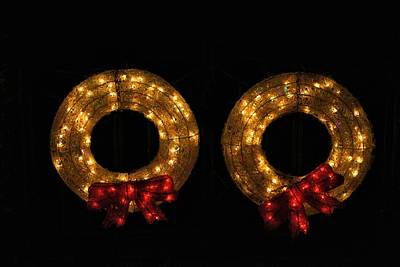 Photograph - Festival Of Lights Wreaths by Kathryn Meyer