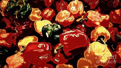Digital Art - Festival Of Peppers by Theresa Willingham