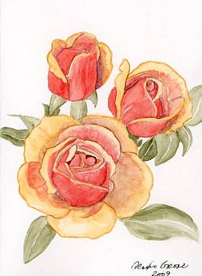 Roses Painting - Festival Roses by Alexis Grone