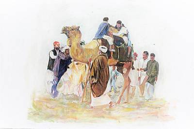 Painting - Festivals Enjoyment. by Khalid Saeed