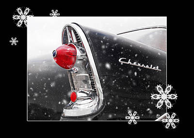 Photograph - Festive '56 Chevy by Gill Billington