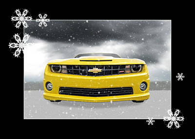 Photograph - Festive Camaro Ss by Gill Billington