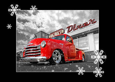 Photograph - Festive Chevy Truck by Gill Billington