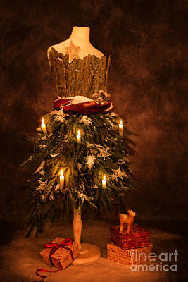Happy New Year Photograph - Festive Christmas Vintage Mannequin by Amanda Elwell