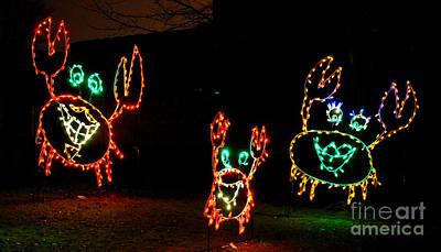 Festive Crab Decorations Original by Nancy Mueller