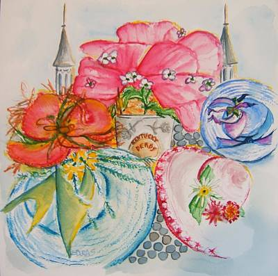 Painting - Festive Derby Tradition by Elaine Duras